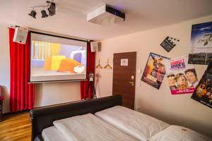 The ultimate cinema themed room in the themed hotel Beverland between Münster and Osnabrück.