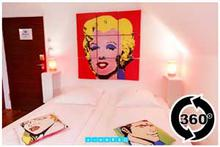 Pop-Art-kamer Panorama-Ansicht